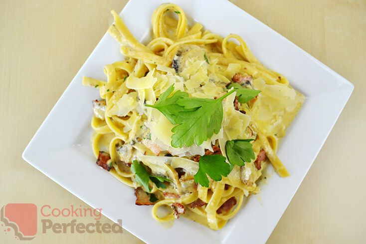 Carbonara with Bacon and Cream