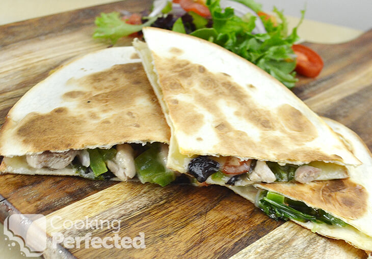 Chicken Quesadilla with a Side Salad