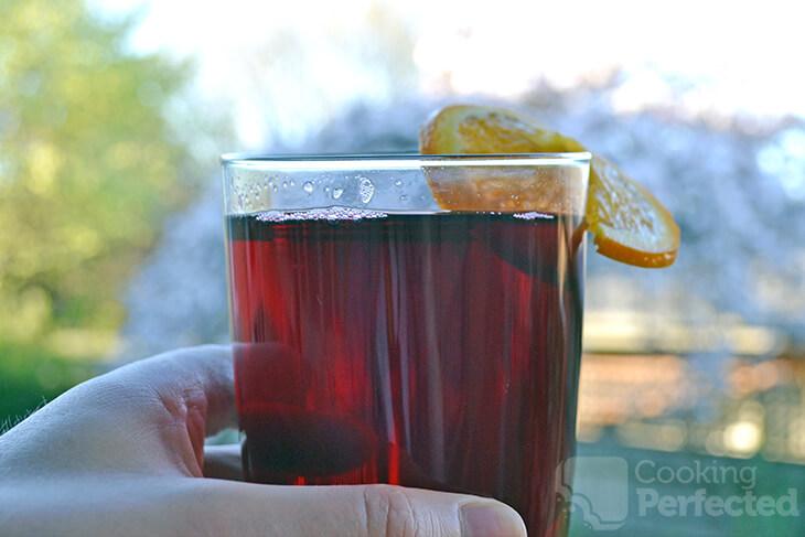 Hibiscus Tea with a slice of orange
