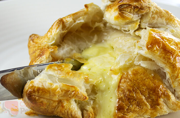 Brie Baked in Puff Pastry