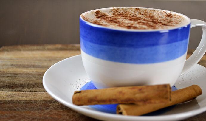 Homemade Cinnamon Latte Ready for Drinking