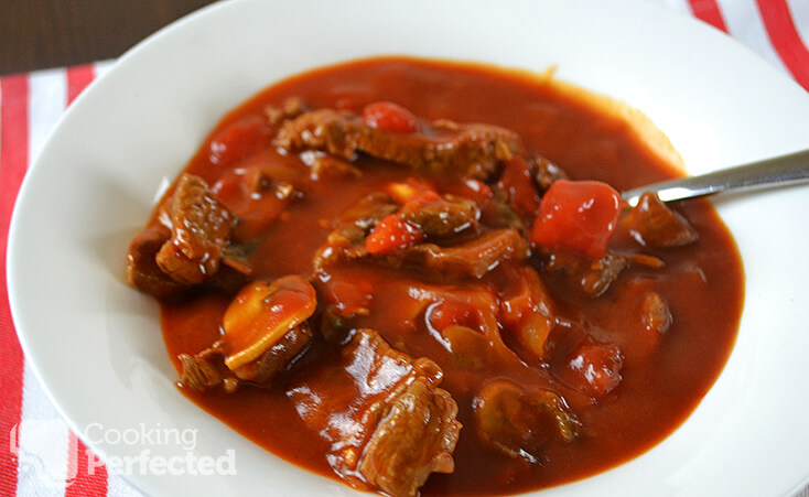 Hungarian Inspired Goulash with Tomato Soup