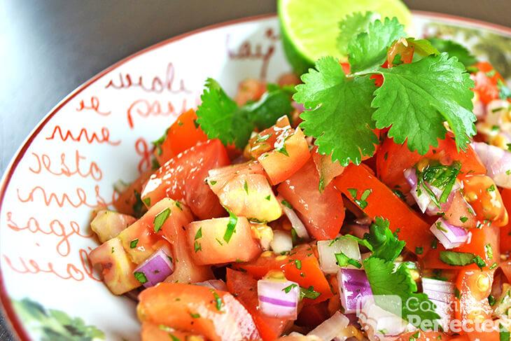 Fresh Homemade Salsa with Lime