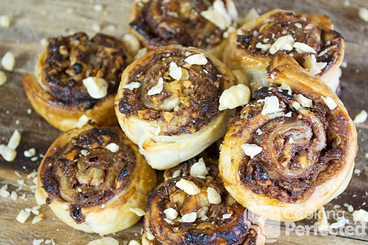 Nutella Scrolls with Puff Pastry