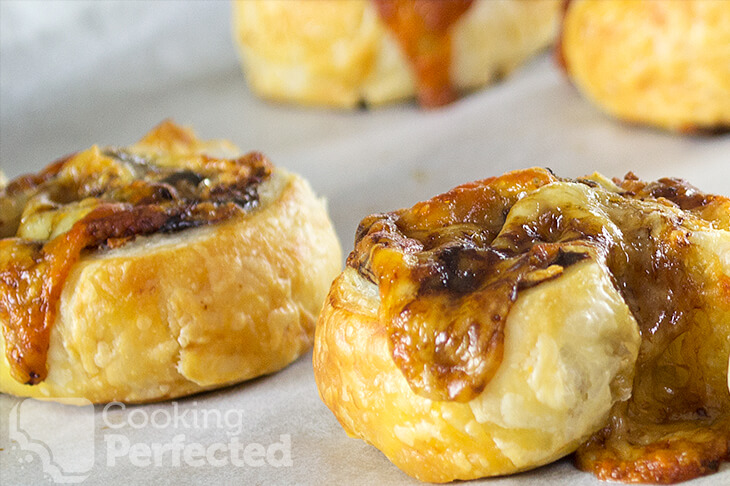 Cheese and Vegemite Scrolls with Puff Pastry