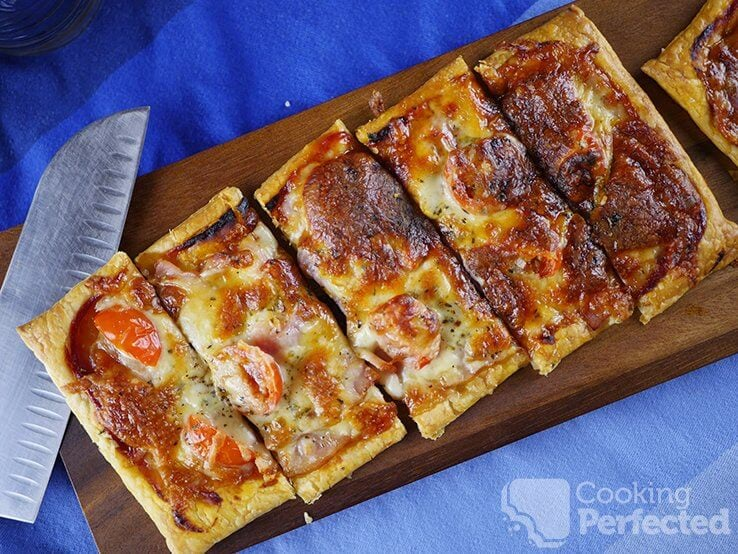 Pizza with a Puff Pastry Base