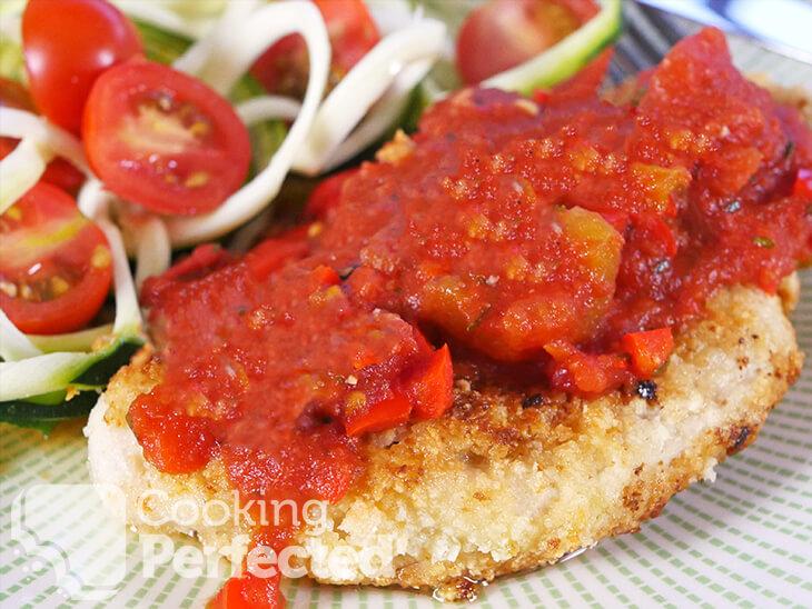 Paleo Chicken Parm with Zucchini Salad