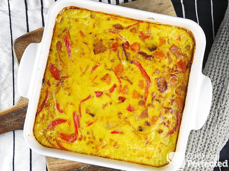 Oven-Baked Breakfast Casserole with Sweet Potato