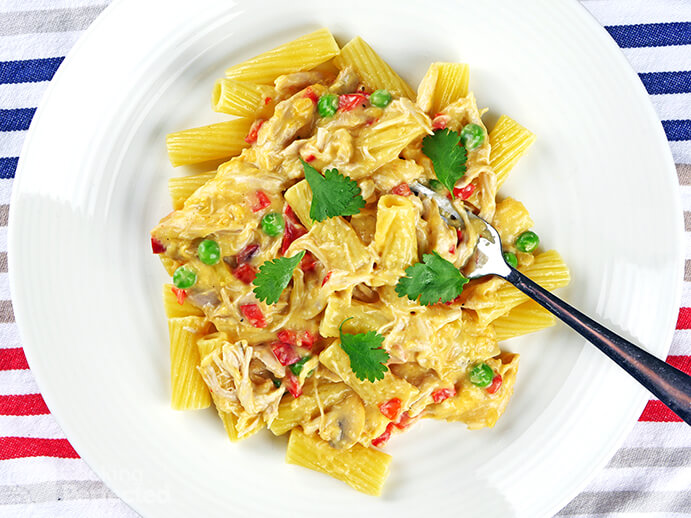Chicken Ala King with Pasta