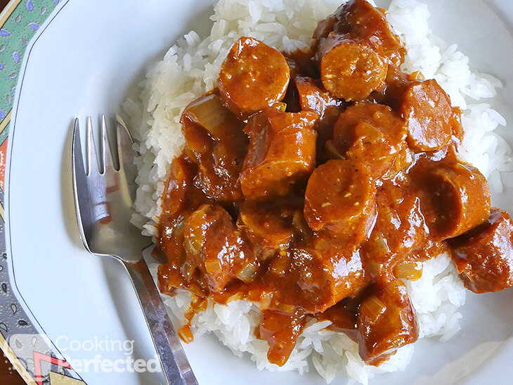 Curried Sausages with no cream