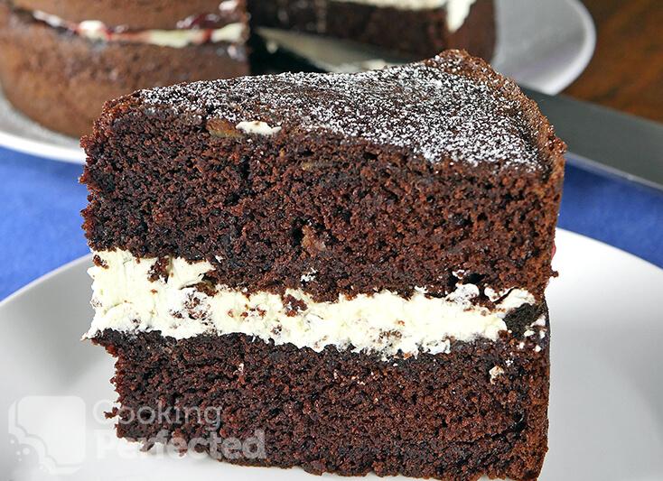 Layered Gluten-free Chocolate Cake with Cream