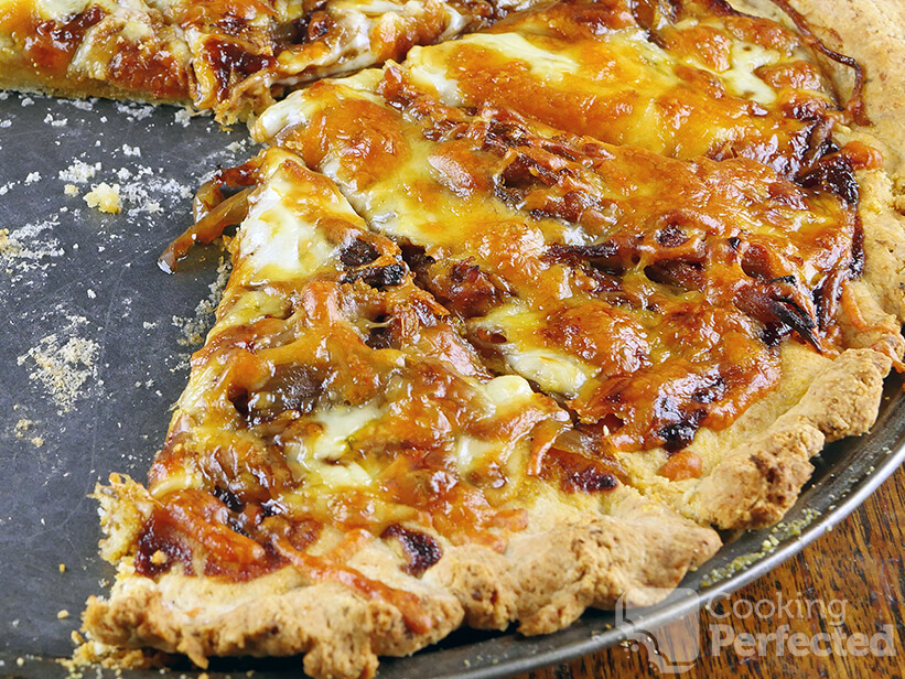 Homemade Gluten-Free Pizza Crust with Toppings