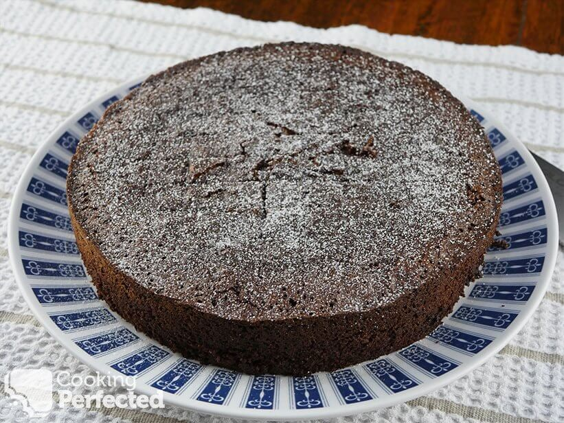 Baked Flourless Chocolate Fudge Cake