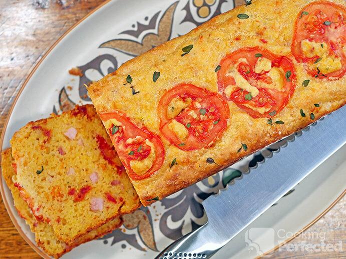 Gluten-Free Cornbread Loaf Sliced
