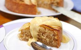 Gluten-Free Apple Cake with Custard