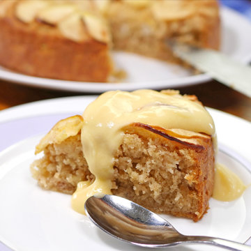 Gluten-Free Apple Cake with Custard