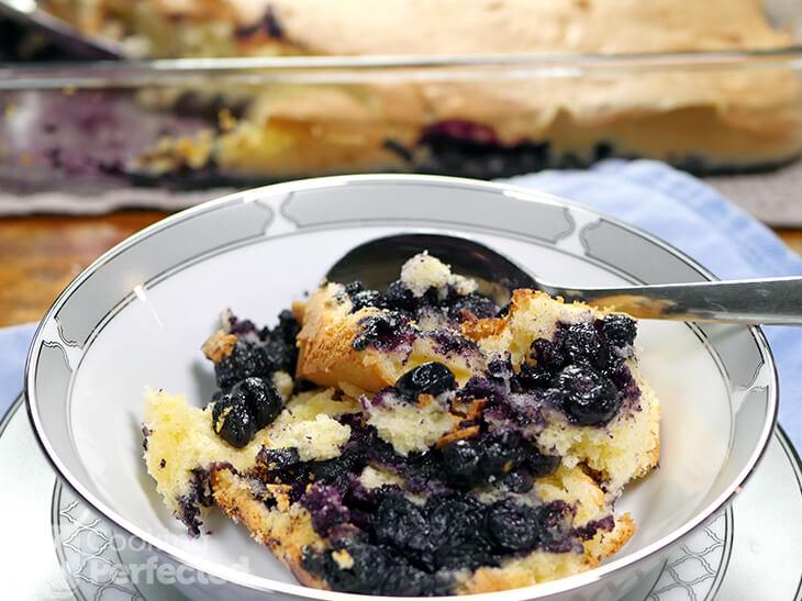 Gluten-free Blueberry Cobbler made from scratch