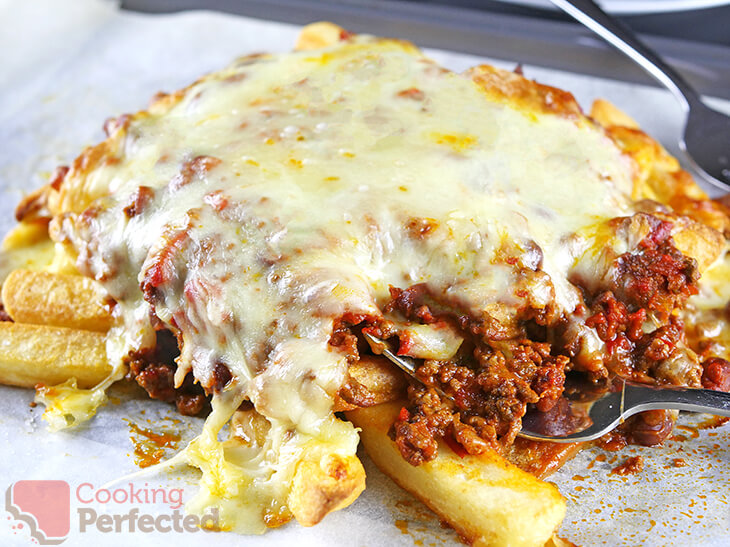 Loaded fries with Chili