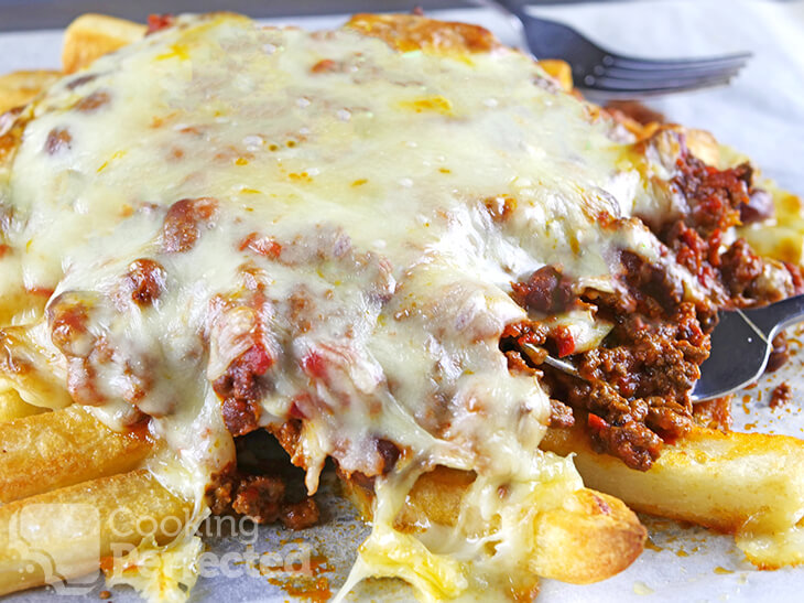 Cheesy Fries with Chili