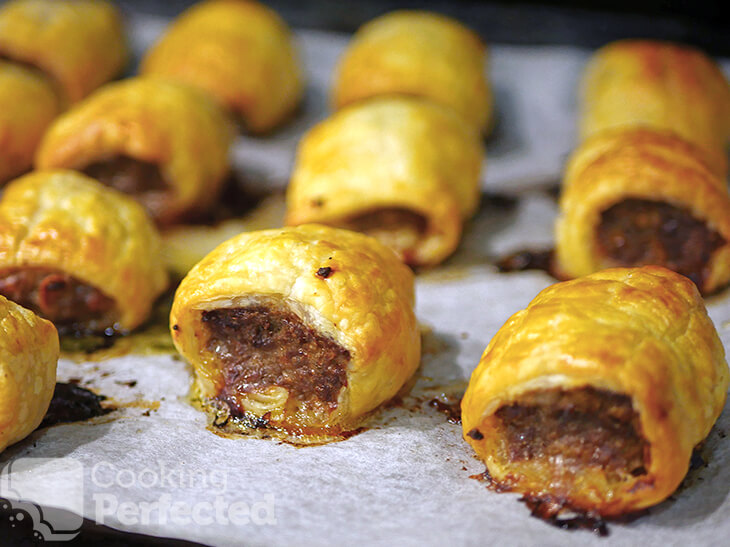 Oven Baked Beef Sausage Rolls