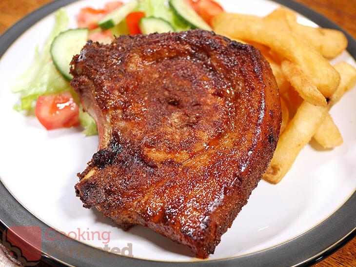 Air Fryer Pork Chops with the Bone-In