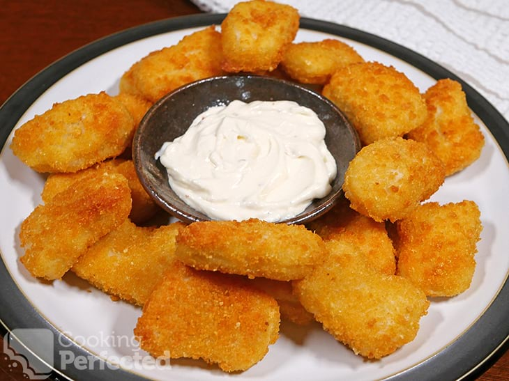 Air Fried Frozen Chicken Nuggets with Mayonnaise