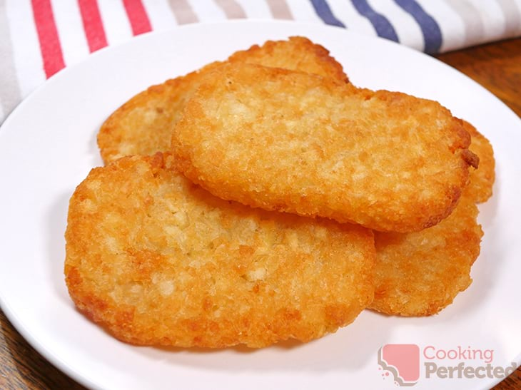 Hash Browns Cooked in the Air Fryer