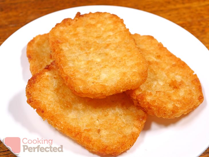 Crispy hash browns ready to eat