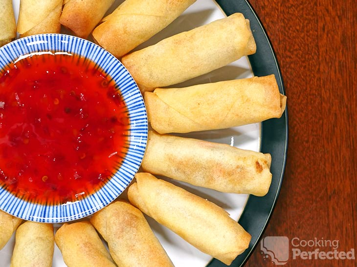 Spring Rolls cooked in the Air Fryer