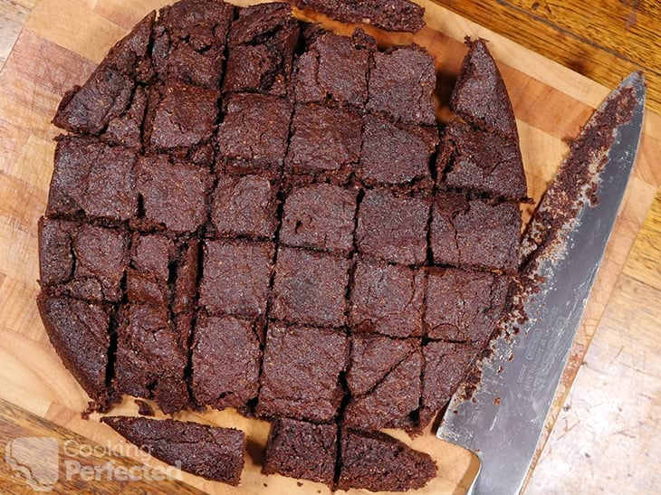 Chocolate brownies cooked in an Air Fryer