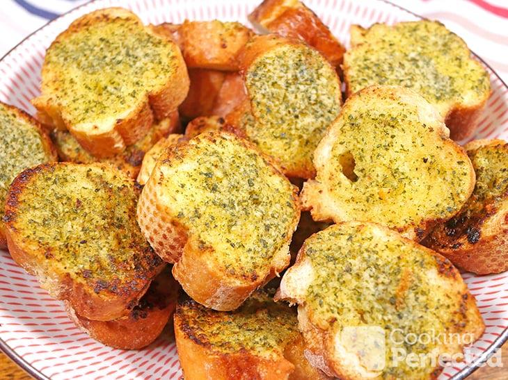 Garlic Bread in a bowl