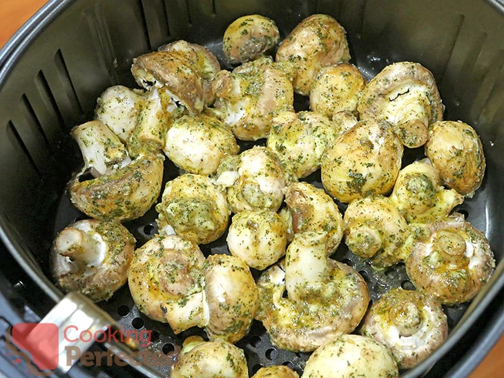 Uncooked Garlic Mushrooms ready for cooking.