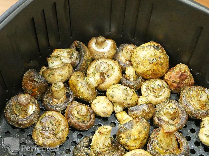 Garlic Mushrooms cooking in the Air Fryer