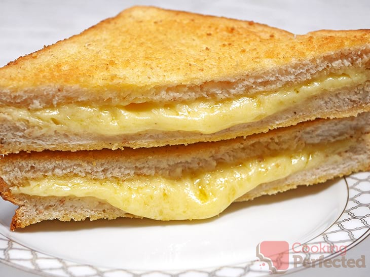 Toasted Cheese Sandwich cooked in the Air Fryer