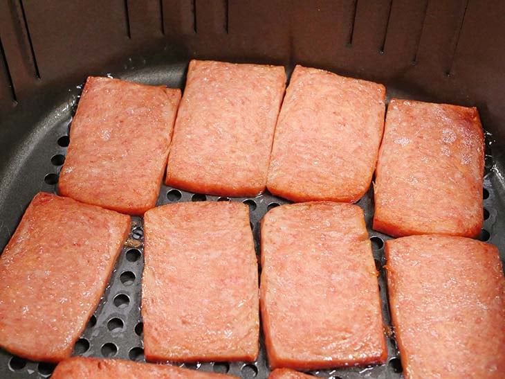 Spam cooking in the Air Fryer