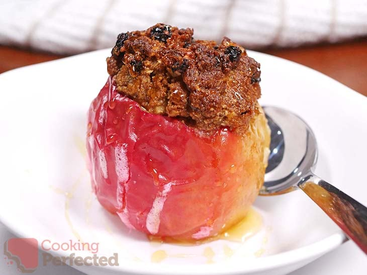 Air-Fried Baked Apple with Honey