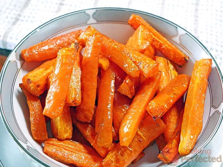 Air-Fried Carrots in a Bowl