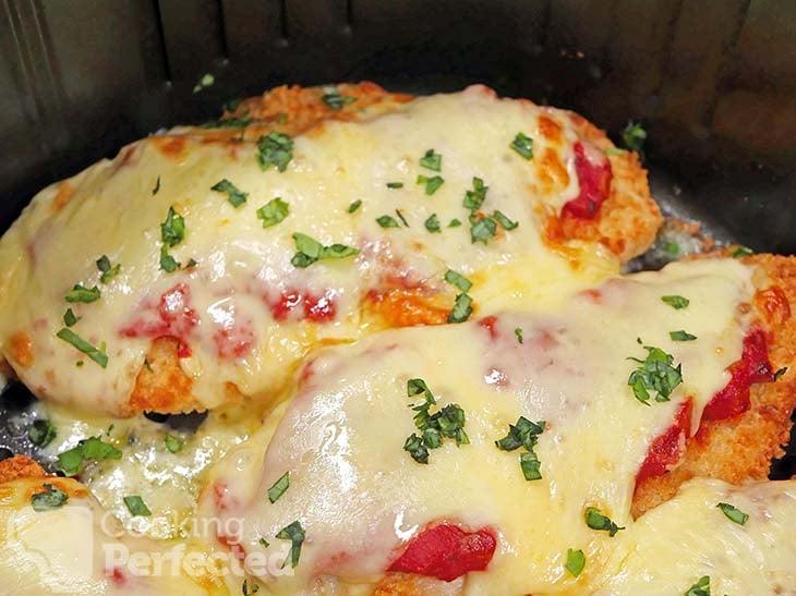 Cheesy Chicken Parmesans in the Air Fryer