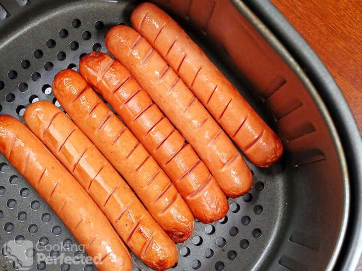 Air-Fried Hot Dogs