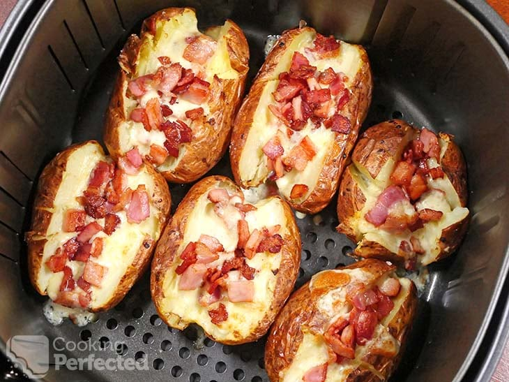 Loaded Baked Potatoes in the Air Fryer